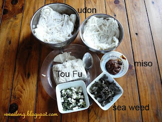 Miso Udon Ingredients