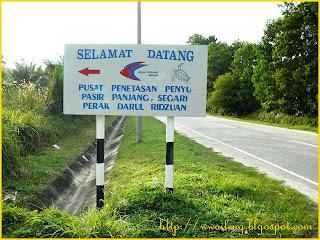 Signboard to Turtle Hatchery Center, Segari, Perak