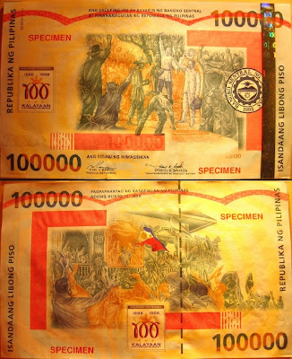 largest single banknote 100000 Peso Philippines government