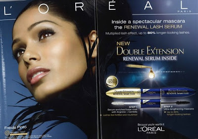 May L'Oreal Paris signed Slumdog Millionaire actress Freida Pinto as its latest A-list representatives