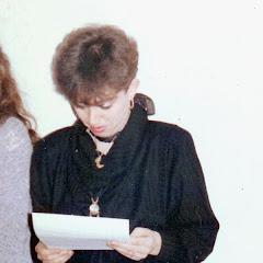 """1986- Durante la entrega de Premios en el """"Café del Buen Ayre"""""""