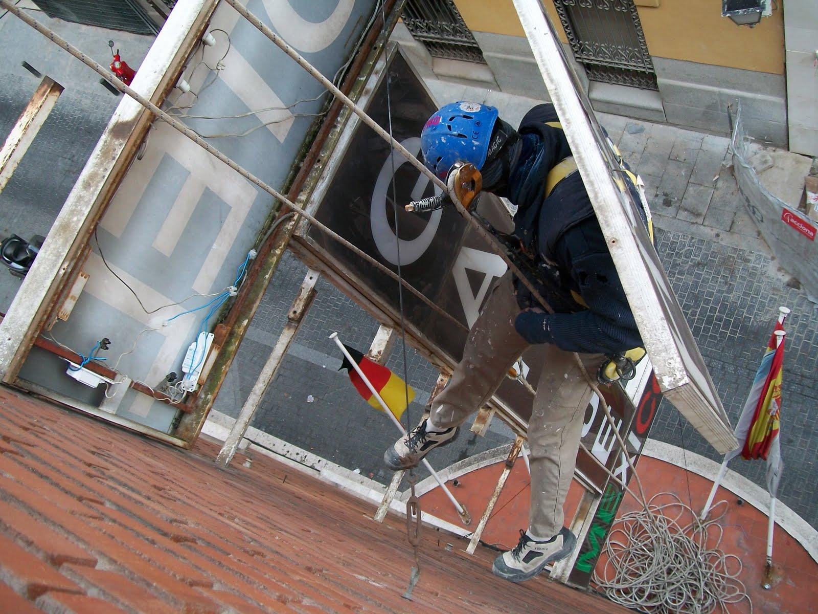 trabajos de electricista en alturas y sin andamios madrid