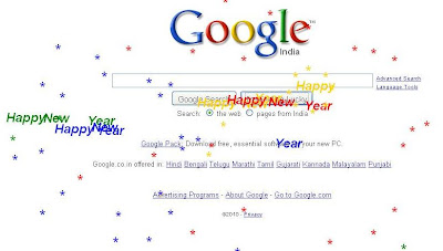 Google Wishes Happy New Year with I'M Feeling Lucky
