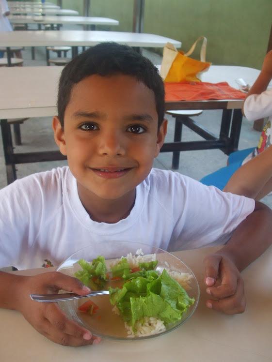 Degustação da salada de alface - 19-11-2010