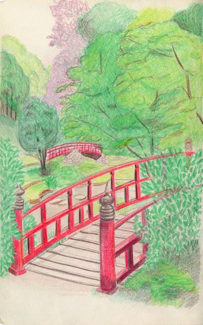 Si j 39 avais un blog les couleurs du jardin japonais for Jardin japonais dessin