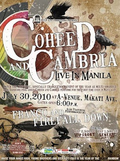coheed and cambria in manila