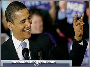 obama devil sign