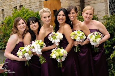 seattle wedding flowers, brides maids bouquets