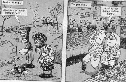 gambar kartun makan