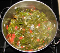 "Vegetarian ""Cajun"" Collards and Chard"