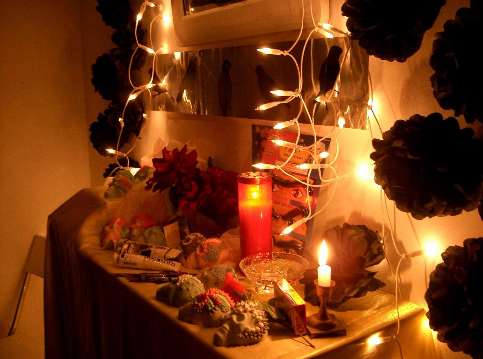 pineapple candles: El Dia De Los Muertos