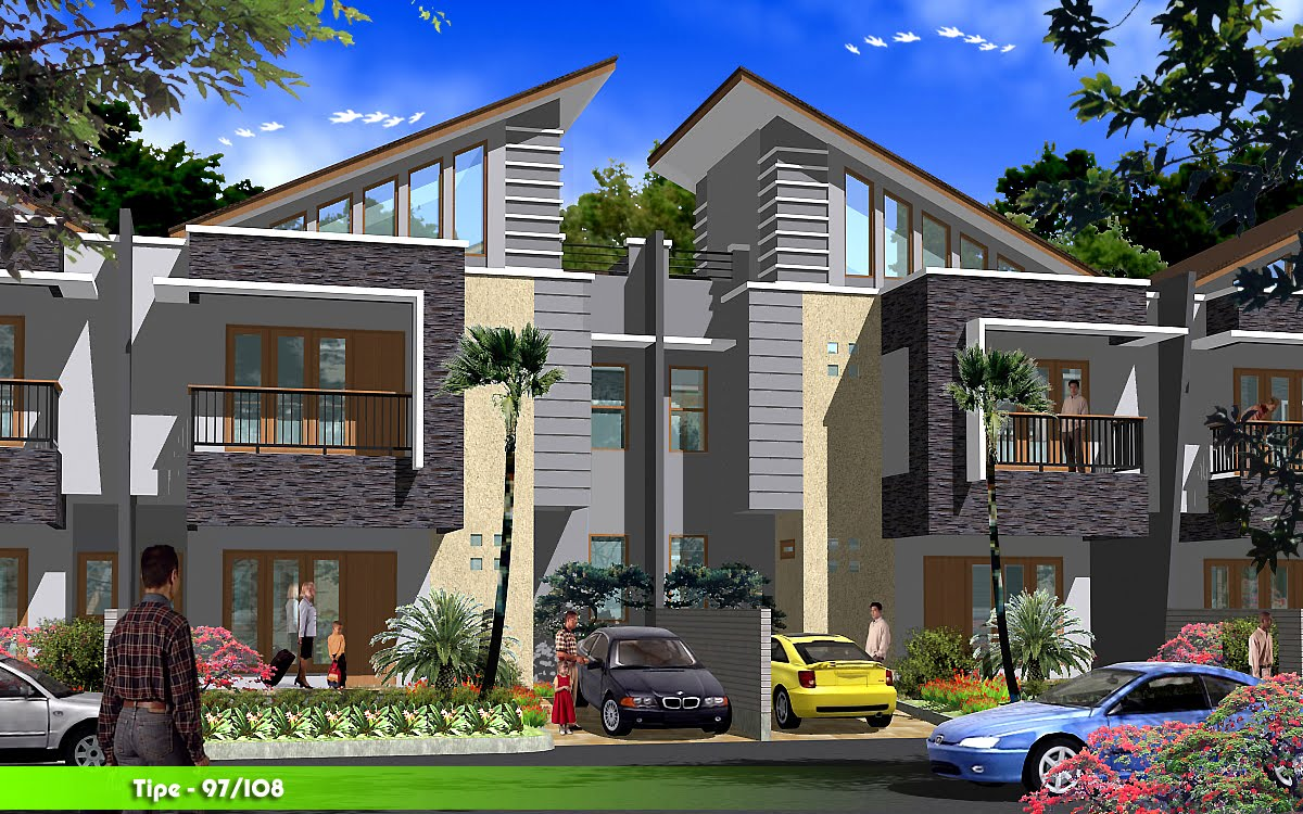 Townhouse cakung residence rumah minimalis for Townhouse design