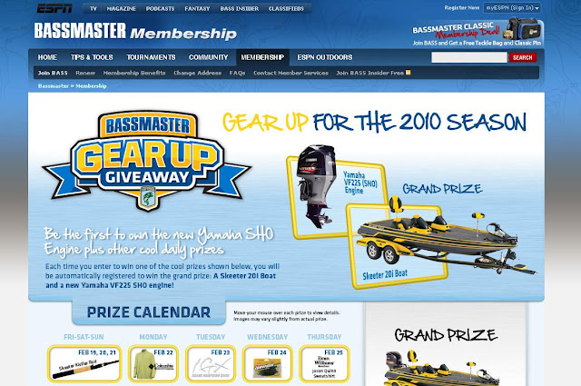 Bassmaster.com/gearup - BASS Master Gear Up Giveaway
