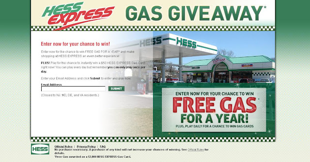 Hessexpress.com/Giftcard - Hess Corporation Gas Giveaway