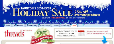 25 Days of Christmas Sweepstakes,Taunton.com