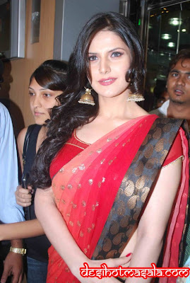 saree actress zarin khan