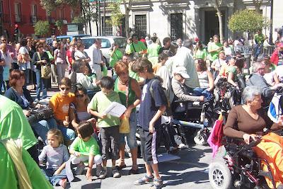 Un grupo de personas que fuimos a Madrid