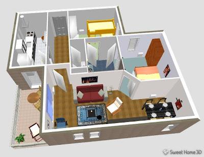 hello pypy sweethome3d design rumah jadi gampang
