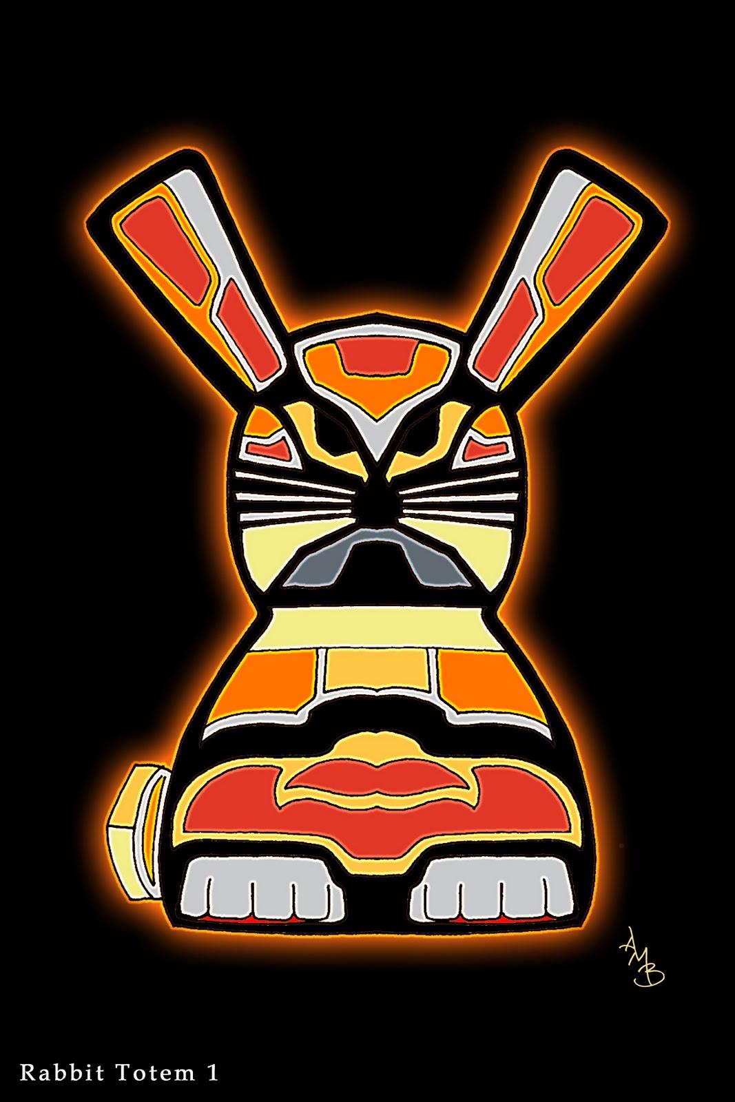 Native Totem Rabbit