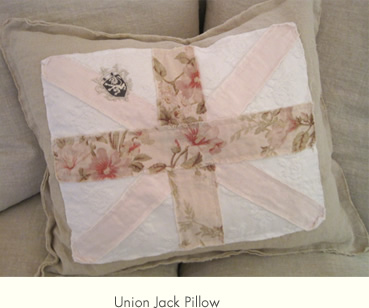 Shabby Chic Union Jack Pillow : vintagesusie & wings: Pillows, Pillows & More Pillows