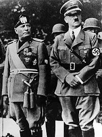 Mussolini e Hitler em visita à Iugoslavia