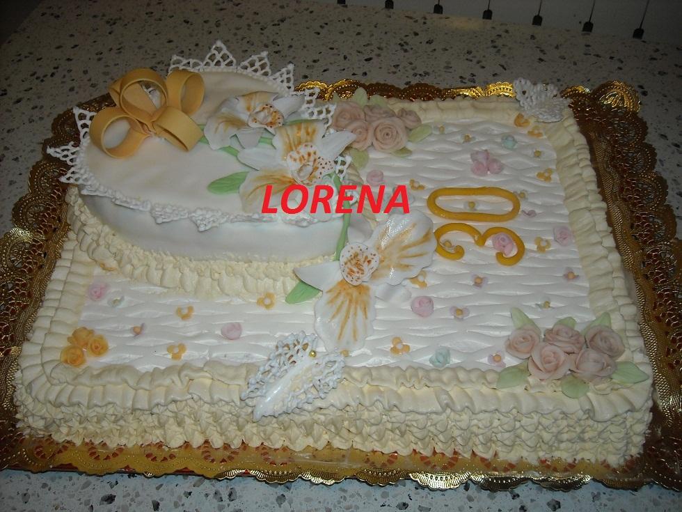Le torte di lorena e non solo i nostri primi 30 for Decorazione torte per 50 anni di matrimonio