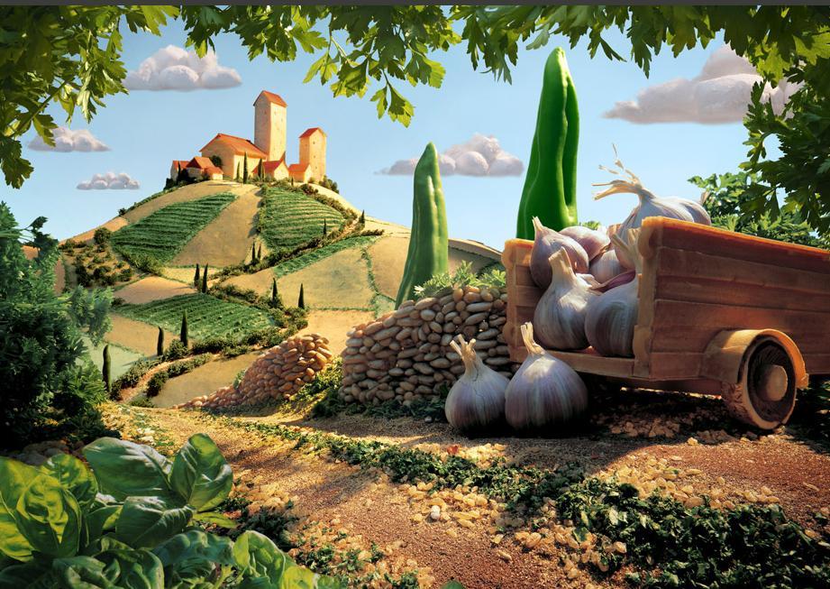 La publicidad de alimentos combinada con mundos imaginarios por Carl ...