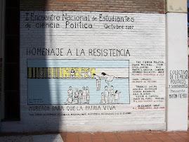 MURAL en la Fac. de Ciencia Política y RR.II / Iº Encuentro de Estudiantes de Ciencia Política