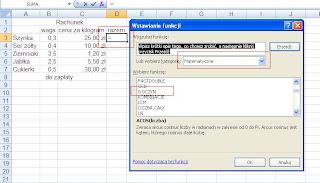 Excel iloczyn
