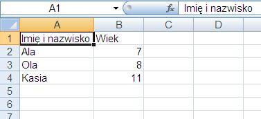 Excel komórka dopasowana do tekstu