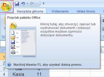 przycisk pakietu Office