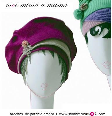 Día de la Madre sombrerosmoe.com, broches Patricia Amaro