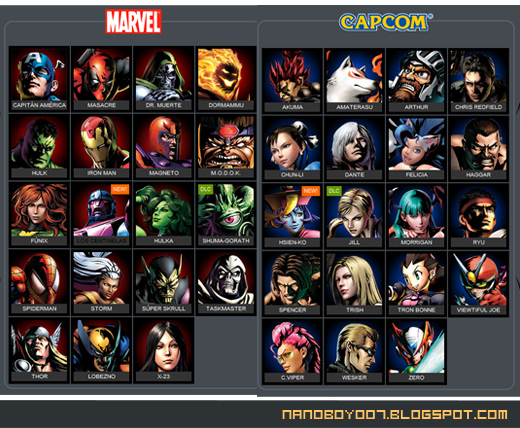 Juego De Marvel Vs Capcom Para Pc