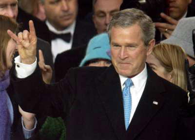 NWO a Satanic Cult Bush_satan_sign