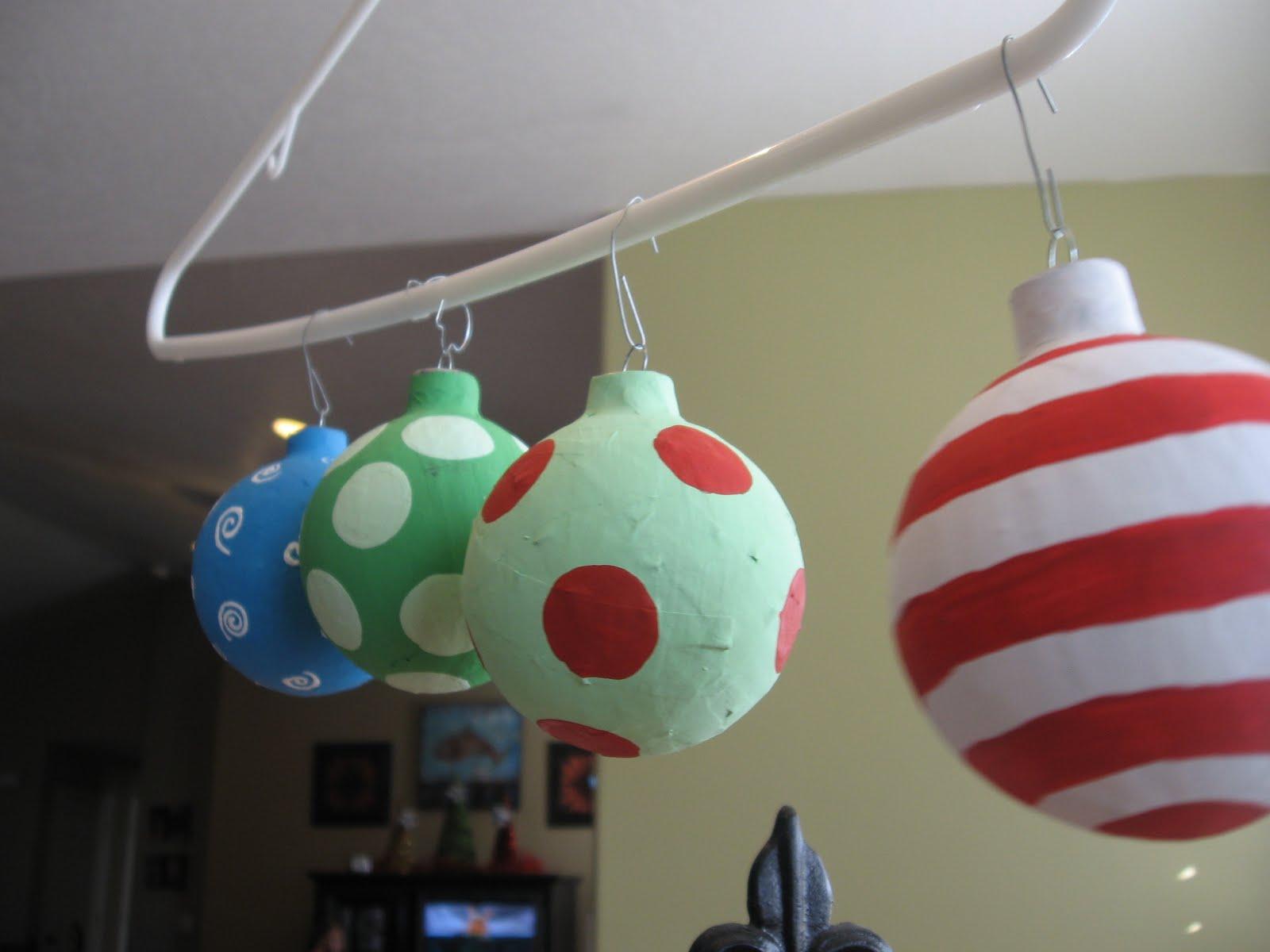 Diy grinch christmas decorations - Chrismas Paper Mache Ornaments