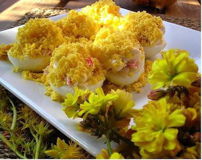 Huevos con Cangrejo