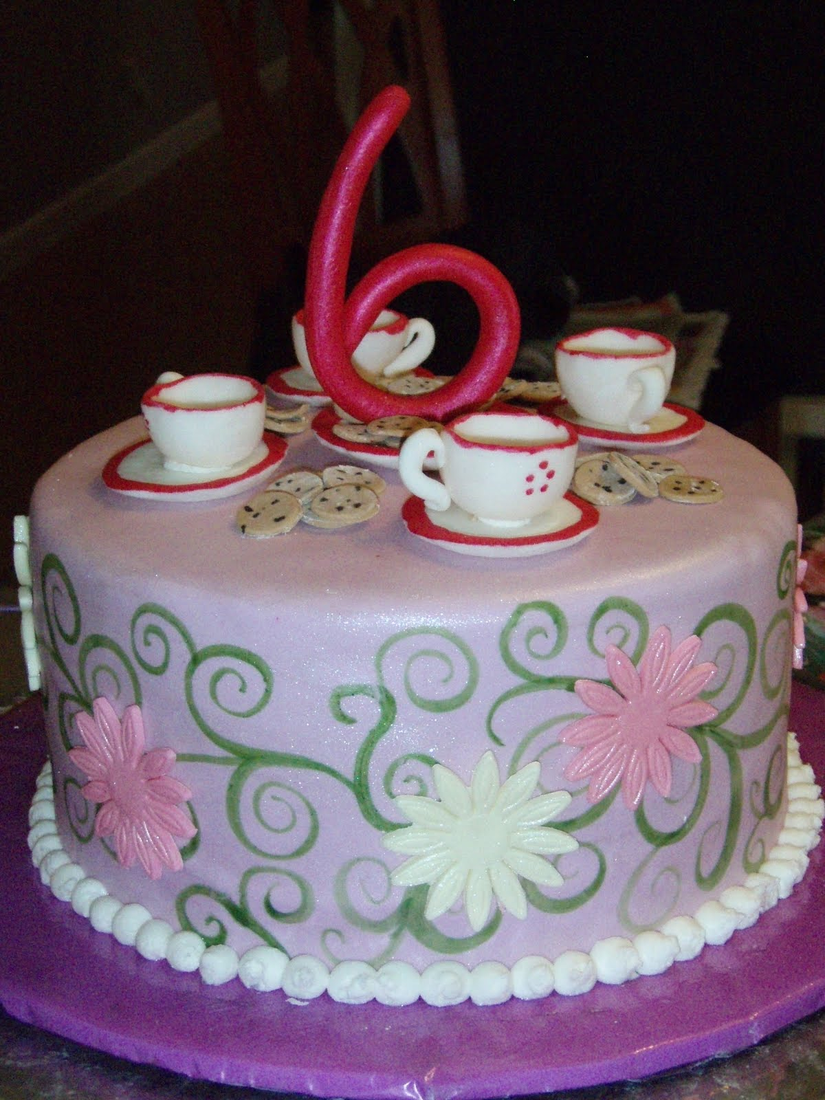 Tea Party Cake Images : Pam s Custom Cakes: Tea party Cakes