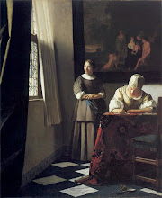 Lady Writing a Letter with her Maid