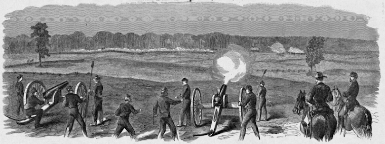 The Battle of Champion Hill, sketched by Theodore R. Davis