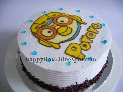 Happy Flour Pororo Character Birthday Cake