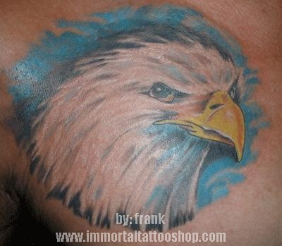 american eagle tattoo done by frank in immortal tattoo shop in tiendesitas