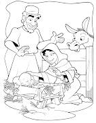 Dibujos para colorir del nacimiento de Jesus y Navidad (nascimento bde bjesus para bcolorir )