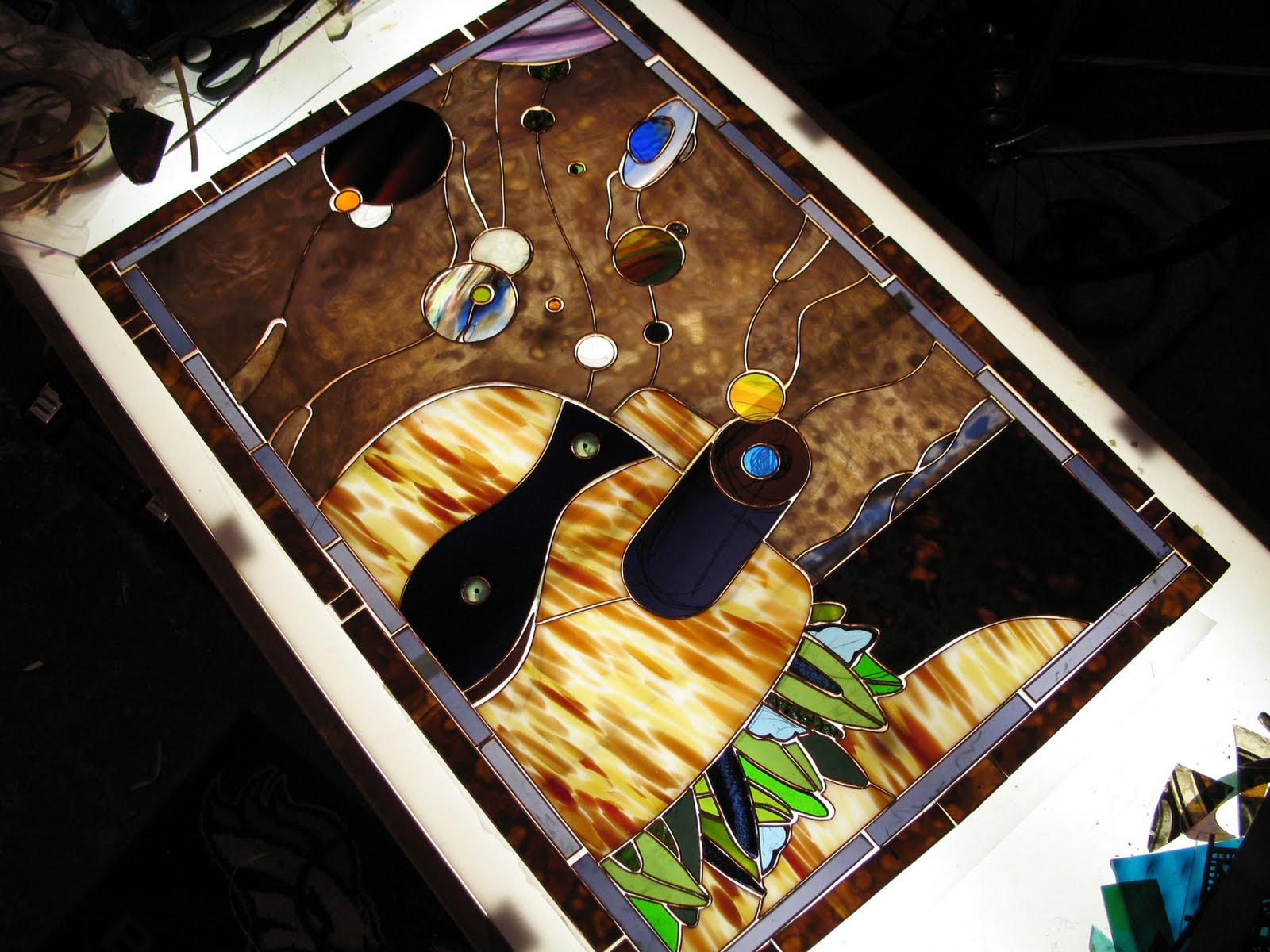 Crushed glass galaxy maker progress for Galaxy maker