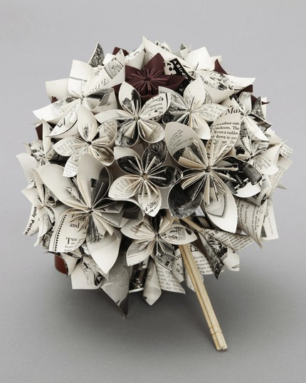 Wedding Paper Bouquet Of Flowers : Newly domesticated paper flower wedding bouquet