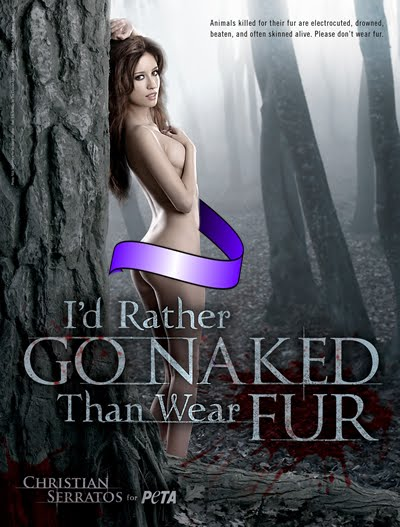 Christian Serratos Ad Campaign for PETA, I'd Rather Go Naked Than Wear Fur, Animal Rights, Stop Animal Abuse