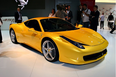 2010 Ferrari 458 Italia, F1,Formula one, Ferrari Motors, Red, Yellow