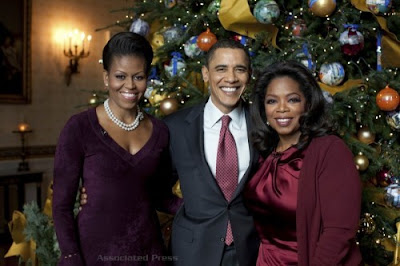 Oprah's Christmas special at the White House with Barack Obama and Michelle Obama, Queen of Talk at the White House
