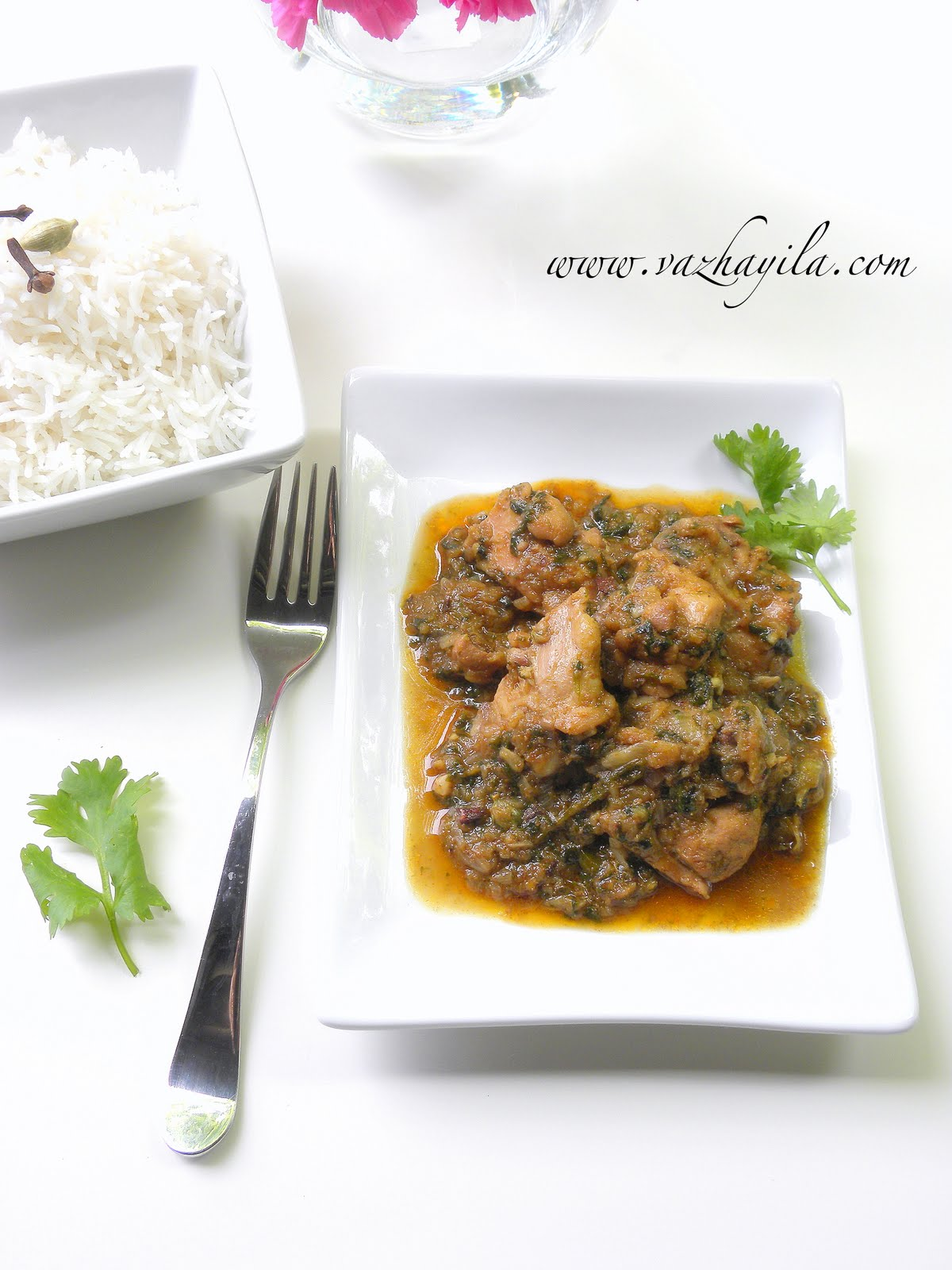 vazhayilacom coriander chicken or chicken with cilantro