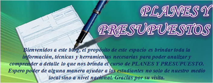 Planes y Presupuesto