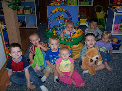 Coco Bear and the children from Treasures of the Heart Preschool